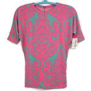 Pink Lily Boutique Blouse Shirt Dolman Medium Pink